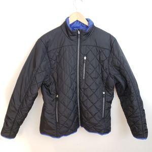 Lands End Boys Black Primaloft Jacket Size L 14/16